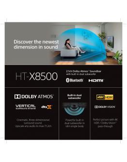 HT-X8500 2.1-kanalni zvočniški modul s tehnologijo Dolby Atmos in Bluetooth