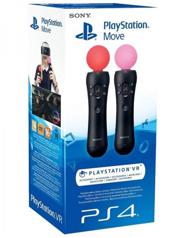 PS4 MOVE MOTION CONTROLLER TWIN PACK 4.0