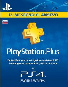 PS + PLAYSTATION PLUS 12 MESECEV